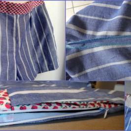 faction short à poches dans la couture et zip latéral