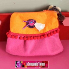 Pochette girly feutrine