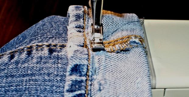 Ourlet spécial jeans