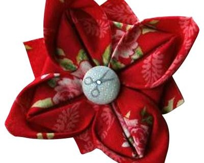 Fleur en tissu facile