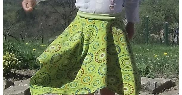 Patron de la jupe circulaire carrée
