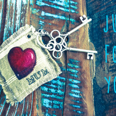 Porte-clés tissu