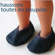 chaussons de poupée