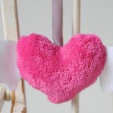 hochet-doudou coeur