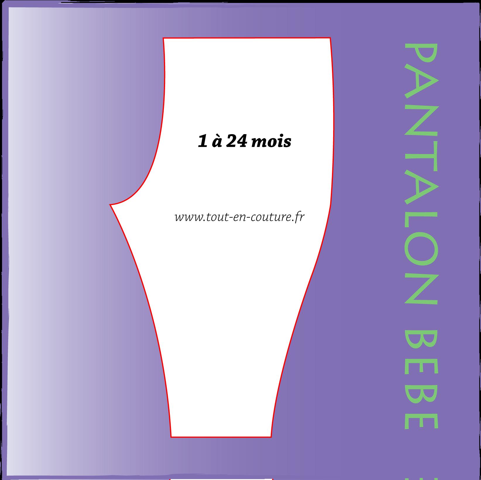 patron pantalon b b pop couture. Black Bedroom Furniture Sets. Home Design Ideas