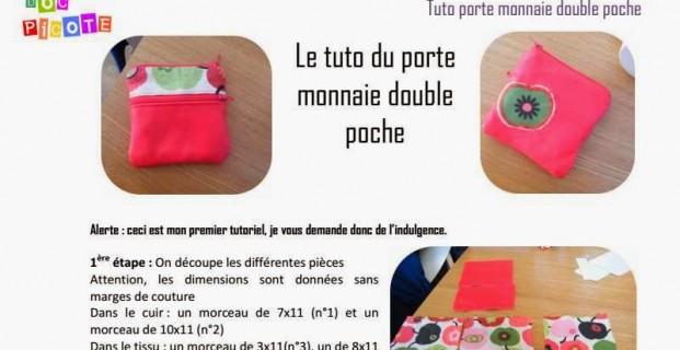 Porte monnaie double-poche