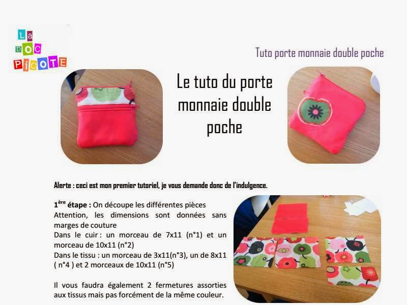 Bien connu Porte monnaie double-poche - Pop Couture RI52