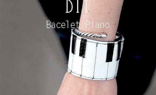 Bracelet piano en cuir