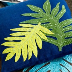 Coussin feuilles