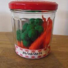 Petits pois-carottes feutrine