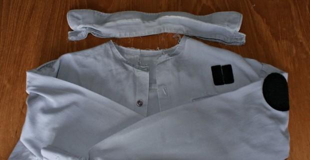 Retourner un col de chemise