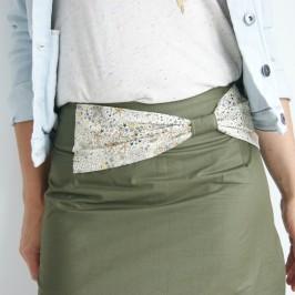 Intégrer un noeud à une jupe droite