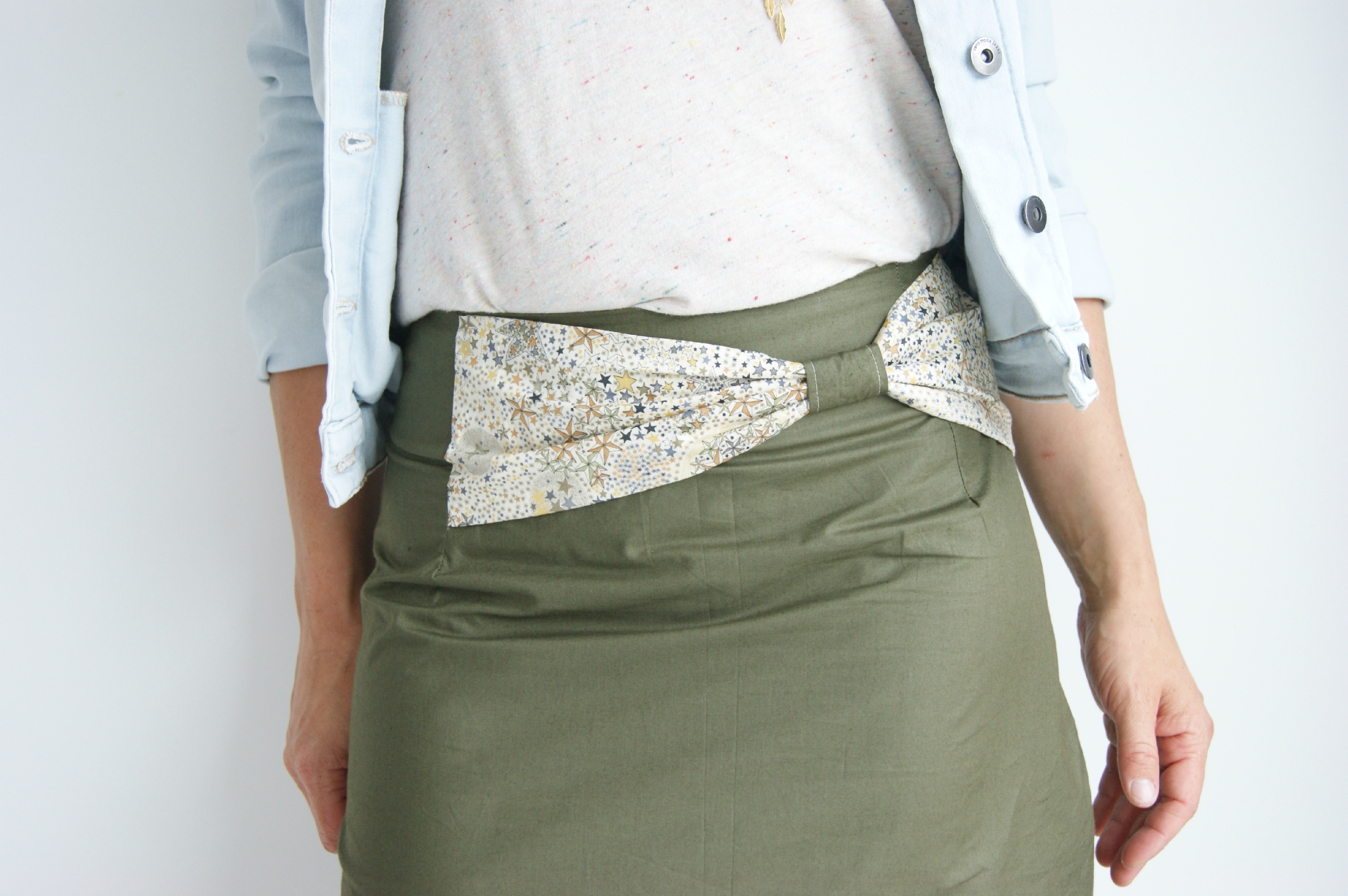 Int grer un noeud une jupe droite pop couture - Patron jupe elastique fille ...