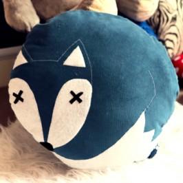 Coussin «renard bleu»