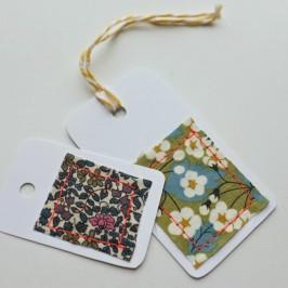 DIY étiquettes tissu