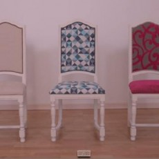 diy recouvrir une chaise pop couture. Black Bedroom Furniture Sets. Home Design Ideas