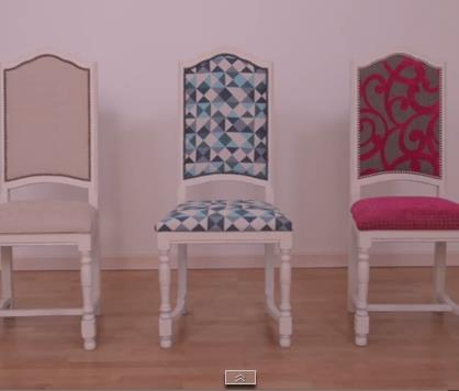 Diy recouvrir une chaise pop couture - Recouvrir chaise tissu ...