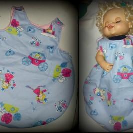 Turbulette zippée pour poupée