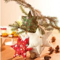 Coussin et étoiles de Noël
