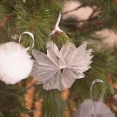 Décorations de Noël en tissu