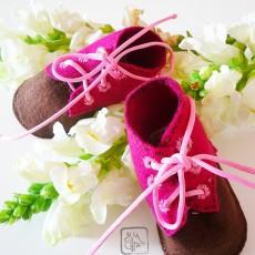 DIY-Chaussons à lacet en feutrine