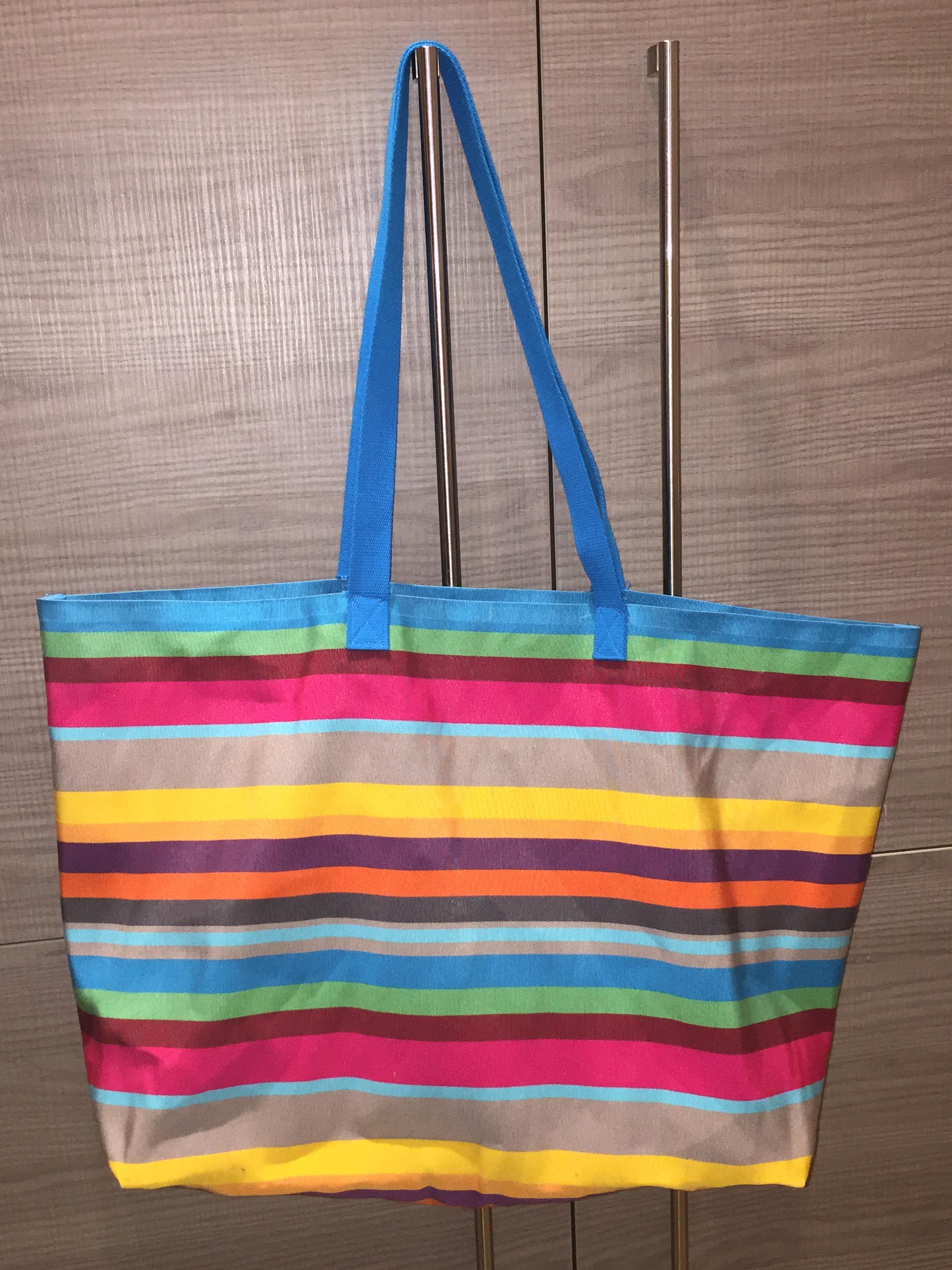 Grand sac plage ou courses pop couture - Tuto grand sac cabas ...