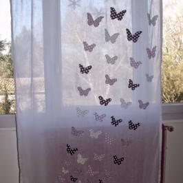 Rideau envolée de papillons