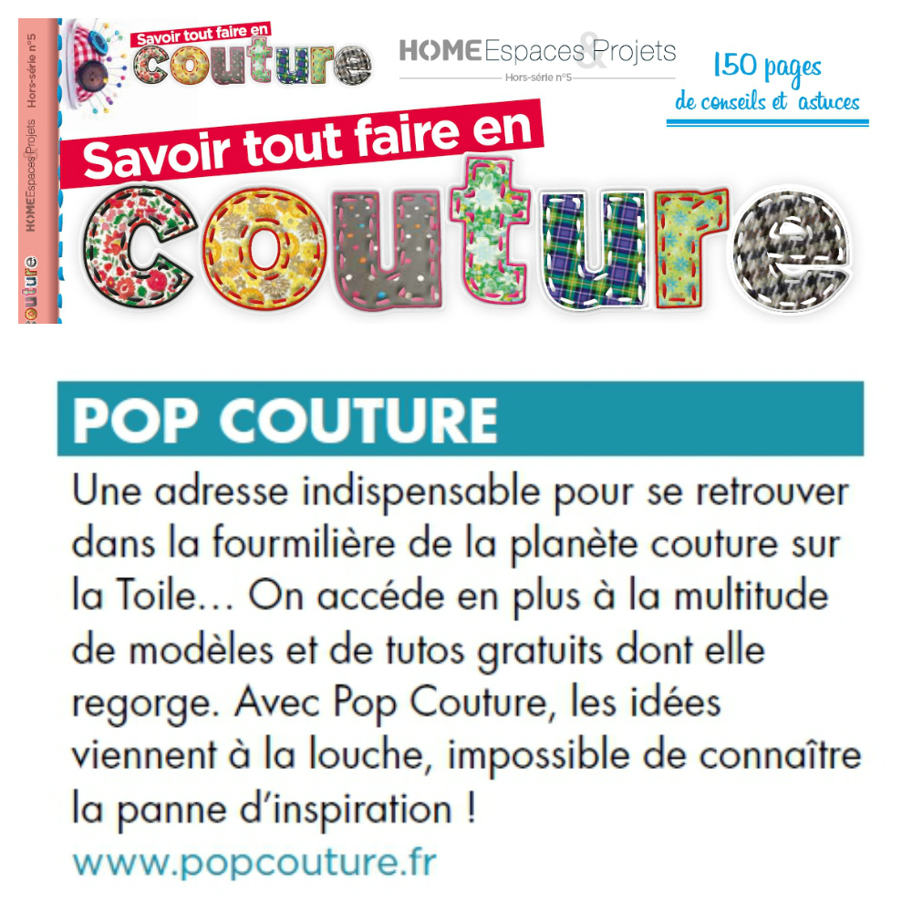 pop couture dans la presse pop couture. Black Bedroom Furniture Sets. Home Design Ideas