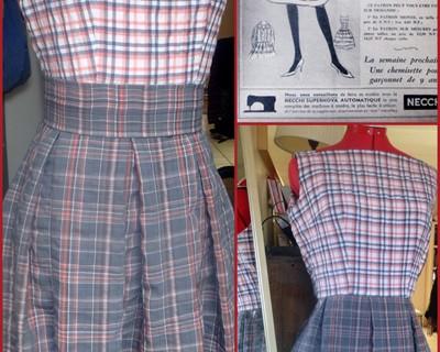 Patron gratuit robe 1960