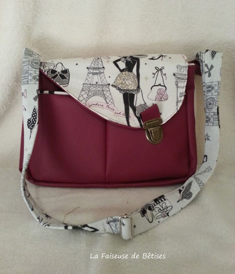 Sac besace femme tuto - Tuto couture sac besace ...
