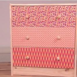 Habiller un meuble avec du tissu