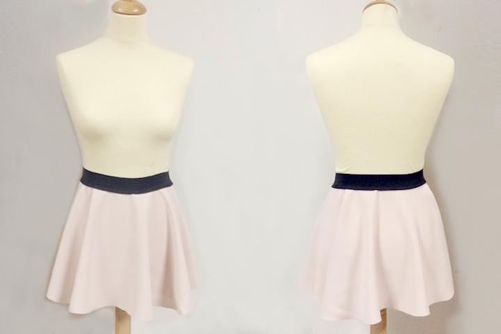 Patron couture jupe patineuse - Tuto jupe facile elastique ...