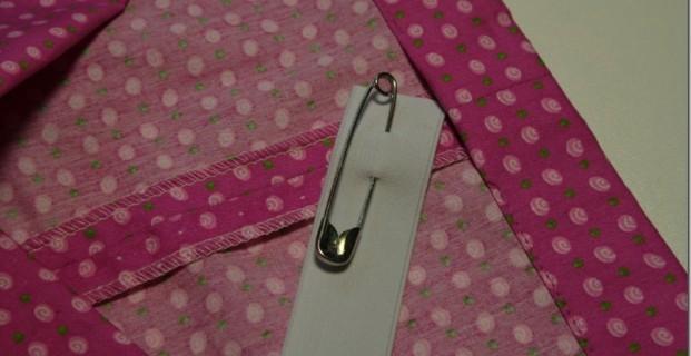 Coudre une ceinture élastique sous une coulisse