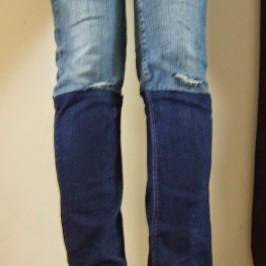 Custo jean bicolore