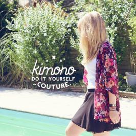 Couture Kimono à fleur
