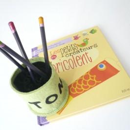 BILL pot à crayons en feutre de laine