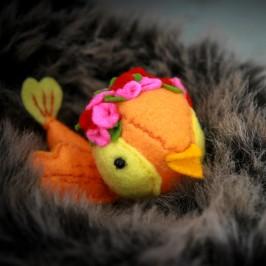 DIY-Un petit oiseau en feutrine