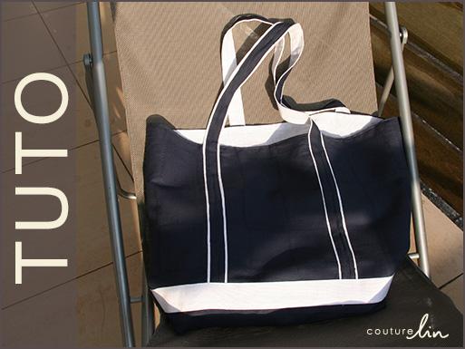 patron couture sac plage