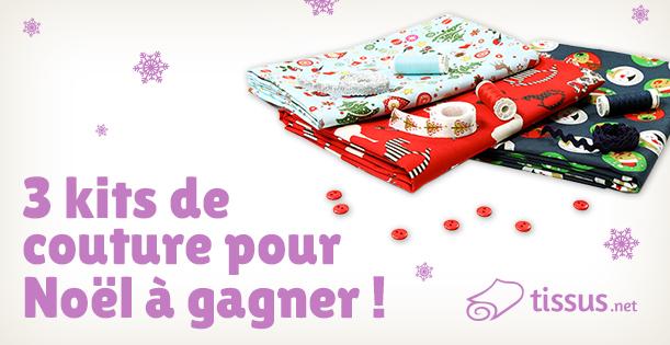 Lots spécial Noël à gagner avec tissus.net