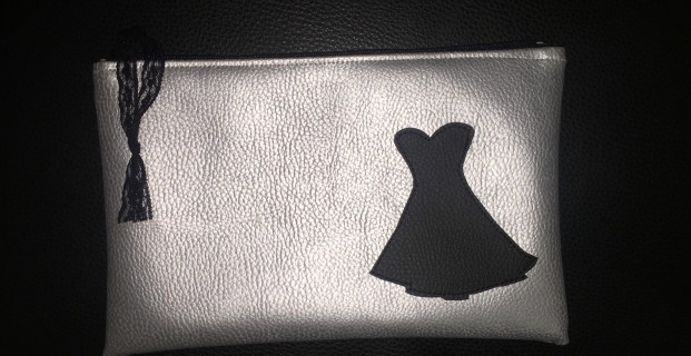 Appliqué petite robe noire