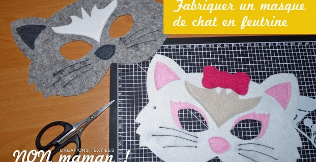 Masque de chat en feutrine
