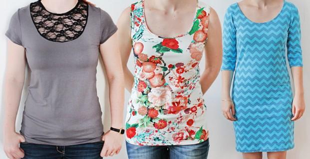 T-shirt, débardeur et robe «Valery» tailles XS-4XL