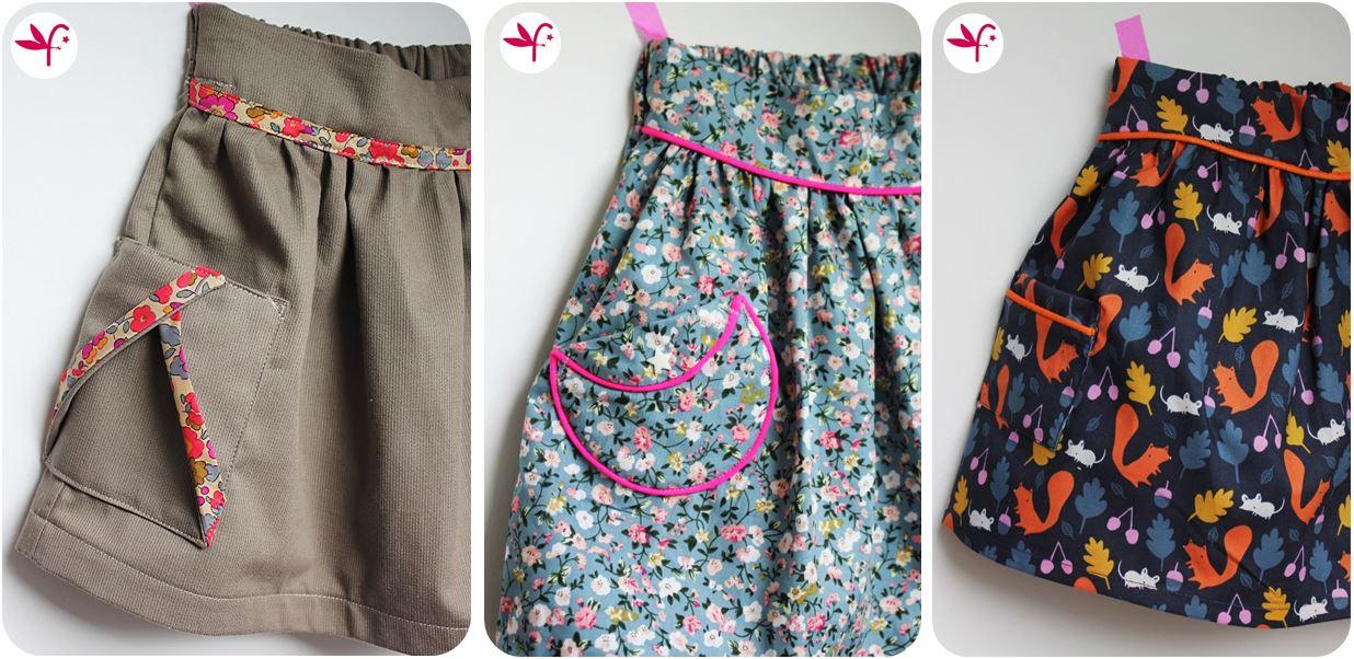 Les petites poches plaqu es pop couture - Patron jupe elastique fille ...