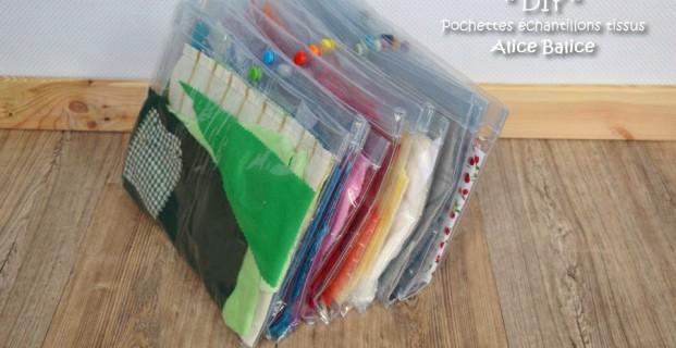 Pochettes plastiques pour chutes de tissu