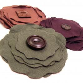 Fleurs en tissu jersey