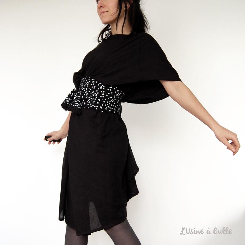 Robe noire ultra facile pop couture - Patron gratuit robe de chambre femme ...