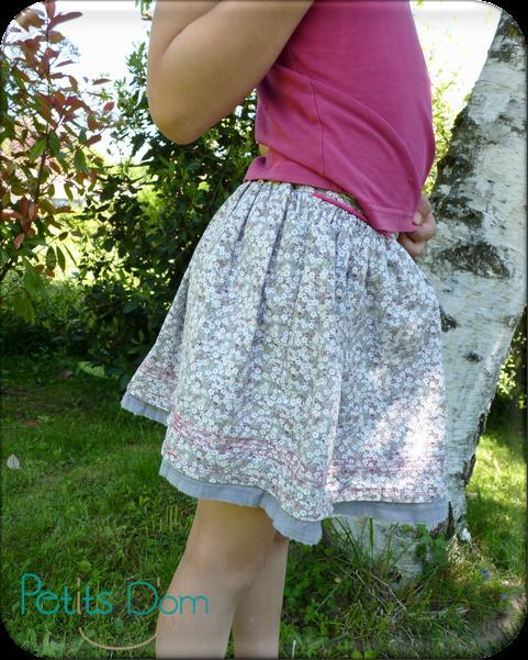 La jupette pop couture - Patron jupe elastique fille ...