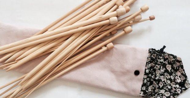 Pochette pour aiguilles de tricot