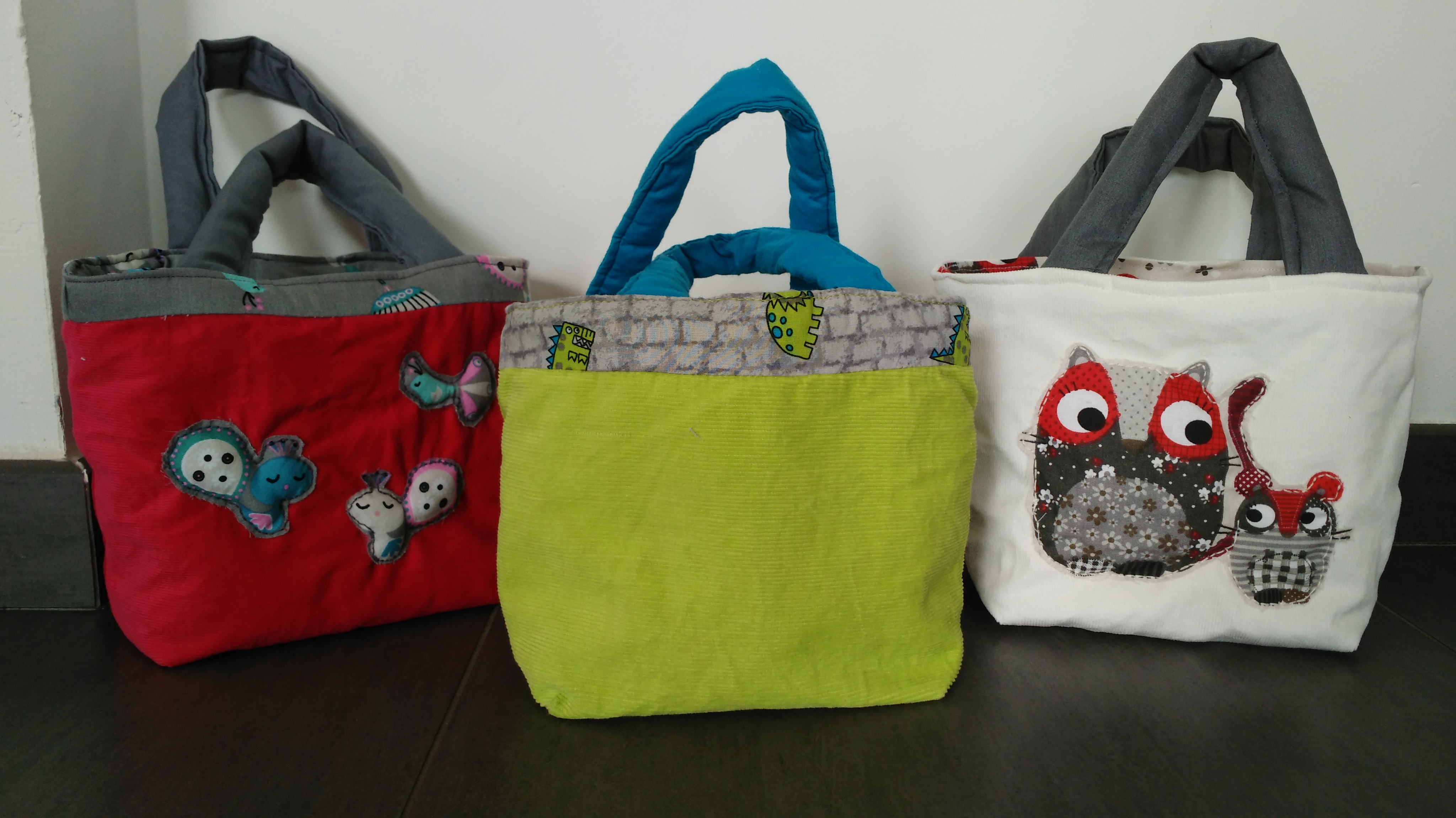 Petit sac cabas pop couture - Tuto grand sac cabas ...