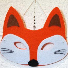 Masque renard en feutrine sans couture